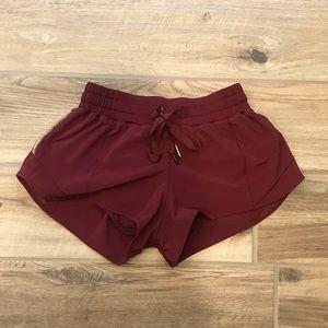 Lululemon Hotty Hot Shorts - Deep Rogue, Sz 4